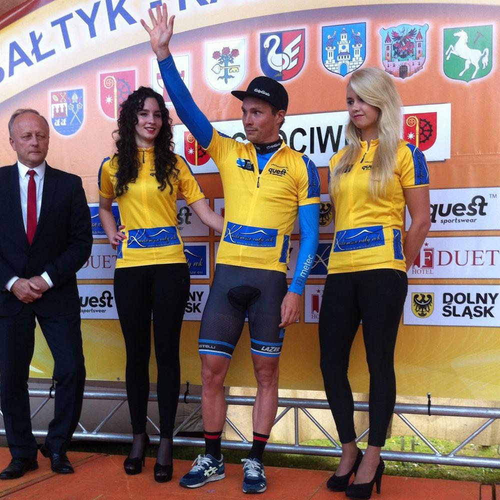 Johim Ariesen leiderstrui na 1e etappe Bałtyk Karkonosze Tour