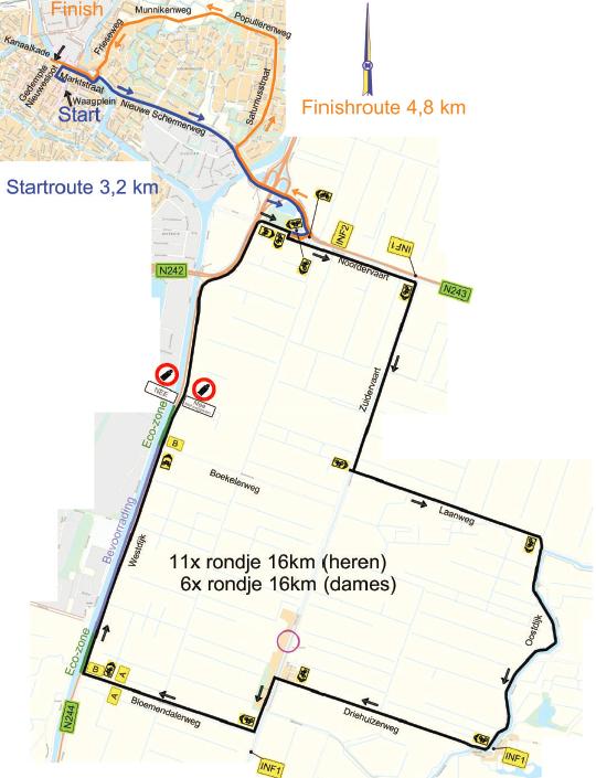 Parcours Omloop van Alkmaar