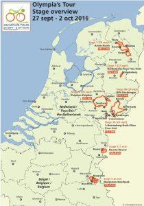 Etappekaart Olympia's Tour