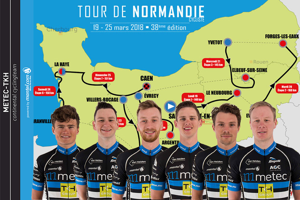 Opstelling Tour de Normandie